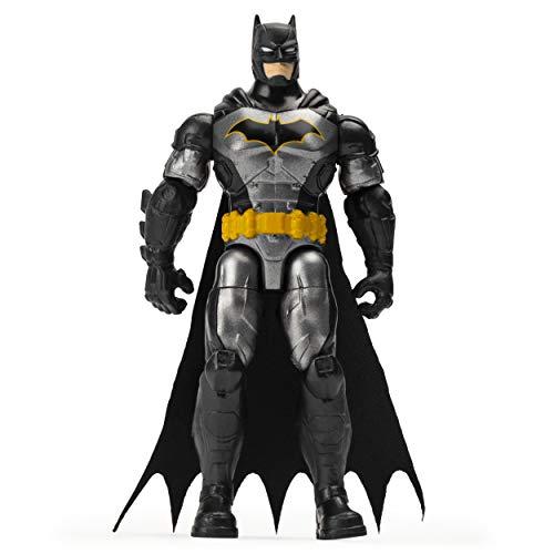 BATMAN 6056744 - Batman 10cm-Actionfigur mit Missionskarte und 3 geheimen Ausrüstungsteilen - Rebirth Tactical Batman