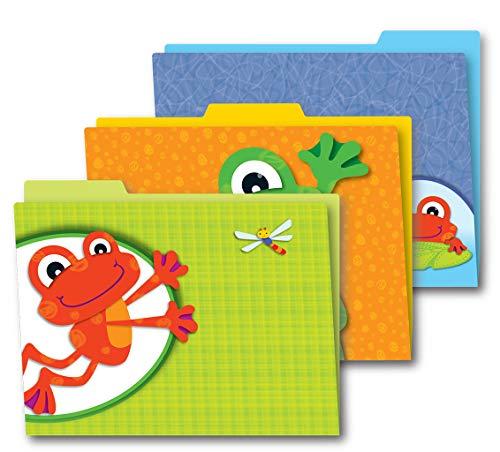 Carson Dellosa Decorative Themed File Folders, FUNkey Frogs, 11.75-inch x 9.5-inch, Pack of 6