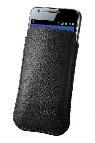 Samsonite Slim Classic Leather Estuche de extracción Negro - fundas para teléfonos móviles (81 mm, 11 mm, 132 mm, 40 g)