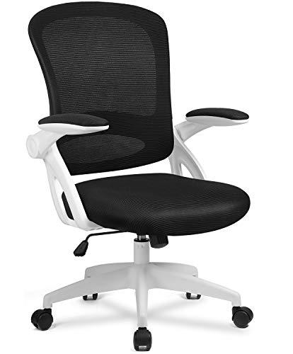 COMHOMA Bürostuhl Schreibtischstuhl Ergonomischer Drehstuhl Chefsessel Netz Stuhl White