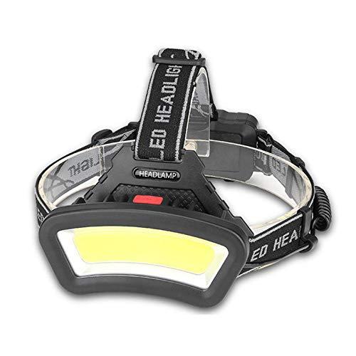 Ocobudbxw Phares COB de Travail Lumineux Lampe Frontale LED étanche légère Charge USB