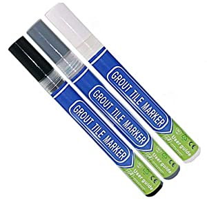 Grout Pen Se utiliza para restaurar el suelo, pared, baño y cocina reparación de azulejos lechada, molde limpio (blanco,gris oscuro,negro)