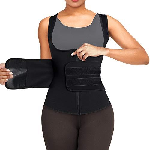 Bingrong Fajas Deportivas Mujer Entrenador de Cintura Fajas para Adelgazar Sauna Adelgazante Mujer Trajes de Sudoración para Fitness Fajas Reductoras Chaleco Sudoracion Mujer