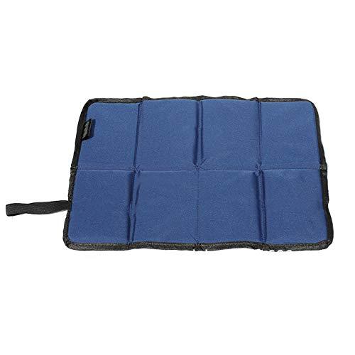 Finoki - Colchoneta de asiento, plegable, térmica, para exterior, jardín, camping, impermeable...