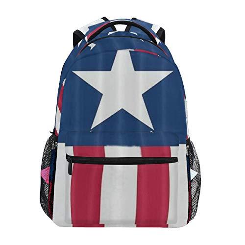 NR nuovo Sacchetti di scuola Satchel zaino,Bandiera americana patriottica