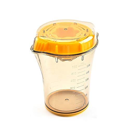 ZIXERN Exprimidores manuales Exprimidor Manual portátil con Graduado de medición de Taza de Jugo de Fruta Exprimidor Anaranjado de la Taza Resistente y Duradero (Color : Orange, Size : 13.1x15.6cm)