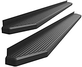APS iBoard 6-inch Aluminum (Black Powder Coated Flat Style) Running Boards Nerf Bars Side Steps Step Rails Compatible with Toyota Tacoma 2005-2021 Extended Access Cab