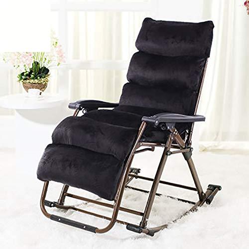 BLWX - Chaise pliante - Fauteuil à bascule inclinable Sieste Chaise de balcon Fauteuil pliant pour le déjeuner Chaise pliante (Couleur : F)