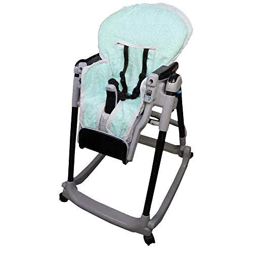 Bubabù COP035-VER - Funda para trona de bebé de rizo Composición: 100% algodón fabricado en Italia, verde