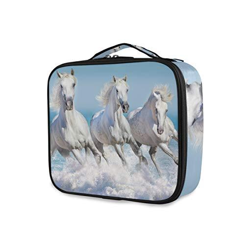 Make-uptas toilettas gereedschap cosmetische trekkoffer opslag Horse Run Travel Portable Cute