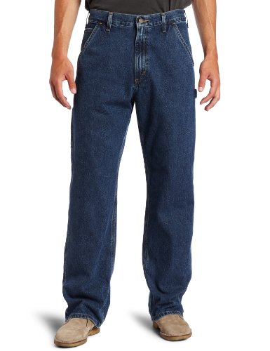 Carhartt Men's Original Fit Work Dungaree Pant (Regular and Big and Tall), Deepstone, 40W X 32L