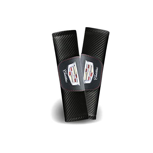 DEFTEN 사용자 정의 탄소 섬유 안전 벨트 커버 어깨 패드 쿠션 캐딜락 XT6XT5XT4CT6CT5XTS CTS ATS SLS 에스컬레이드(2 개)