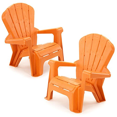Kids or Toddlers Plastic Chairs 2 Pack Bundle,Use For Indoor,Outdoor, Inside Home,The Garden Lawn,Patio,Beach,Bedroom Versatile and Comfortable Back Support and Armrests Childrens Chairs.5 Colorful Little Tikes Contemporary Colors Make a Perfect Childs Chair. (ORANGE)