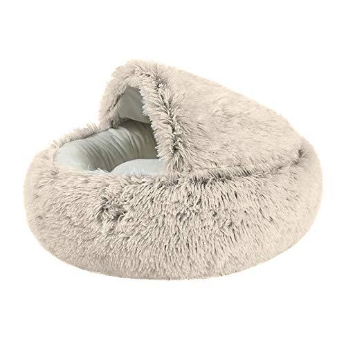 Aprimay Pet Dormire Letto Lungo Peluche Morbido Confortevole Caldo Gatto Cane Materasso Cuscino Metà Avvolgere Rotondo Letto Dormire