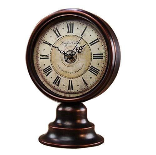 Reloj de Sobremesa de Mesa Estilo Europeo Bronce Antiguo Reloj de Cuarzo de la Sala Y Reloj de Repisa. Reloj de Decoración. Se Aplica a Las Familias Oficinas Etc, QiXian