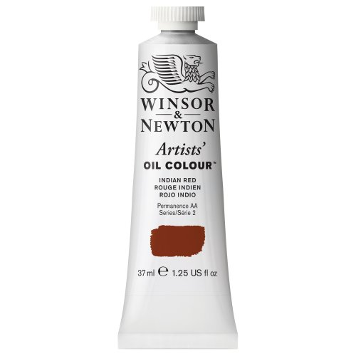 Winsor & Newton Artists' Oil Color Paint, 37-ml Tube, Indian Red
