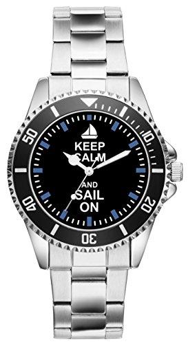 Keep SAIL ON Segler Geschenk Artikel Idee Fan Uhr 2144