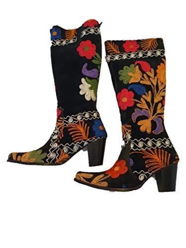 Boots Brodé à la main pour femme. - - Chloe, 39 EU