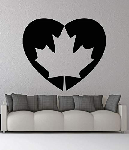 yaonuli Nationale vlag hartvormige muursticker vinyl muur decoratie huis silhouet sticker kinderkamer woonkamer