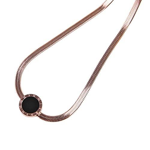 Collares Mujer, Collar Ajustable Herringbone Collar de Hueso de Serpiente Cadena de Eslabones de C8lavícula, Collares Pendientes Minimalistas de Mujeres Muchachas