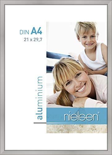 Nielsen Aluminium Bilderrahmen Classic, 21x29,7 cm (A4), Silber Matt