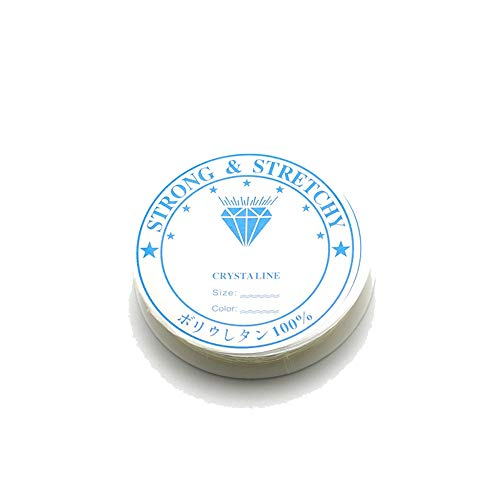 N / A Nigoz - Hilo elástico transparente de 1 mm, apto para bisutería, collares, pulseras, 1 rollo, 5 m rentable