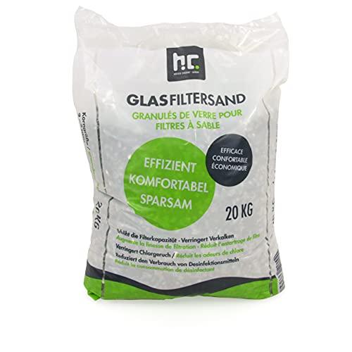 Höfer Chemie 20 kg Glasgranulat für Sandfilteranlagen 2-5 mm Körnung für Pool und Schwimmbad