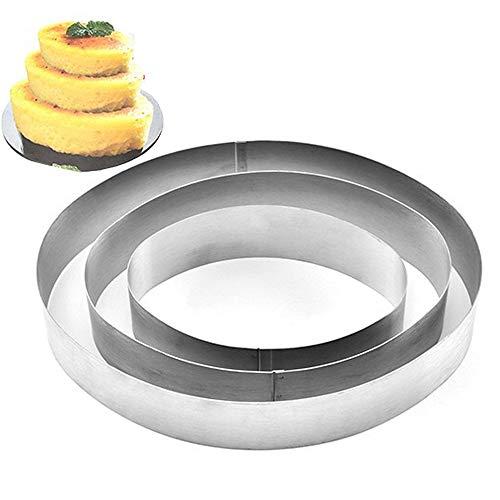 TAMUME Moules à Gâteaux en Acier Inoxydable pour Moules à Forme Spécifique - Ensemble de 3 Moules à Pâtisserie (Ovale)