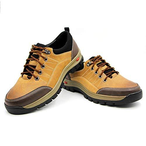 Y-PLAND Zapatos de Senderismo al Aire Libre de Gran tamaño para Hombres, Zapatos Casuales del Equipo de transpiración, Zapatos de Caminata antideslizces-Amarillo_EU43