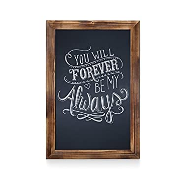 Rustic Torched Wood Magnetic Wall Chalkboard, Extra Large Size 20  x 30 , Framed Decorative Chalkboard - Great for Kitchen Decor, Weddings, Restaurant Menus and More! … (20  x 30 )