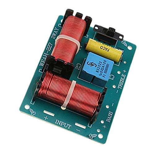 P Prettyia Module Diviseur de Fréquence Haute Basse HiFi Audio Haut-Parleur Crossover 2 Voies 100W Filtres