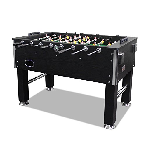 T&R sports 5FT Soccer Foosball Table Heavy Duty for Pub Game Room with Drink Holders, Black (US Stock)