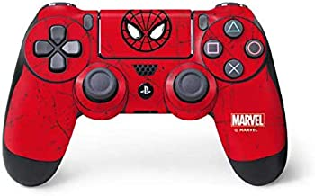 Skinit Decal Gaming Skin for PS4 Controller - Officially Licensed Marvel/Disney Spider-Man Face Design