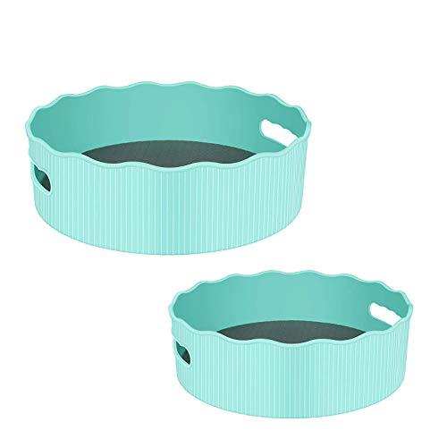 NXM Plato Giratorio para Cocina Organizador para Condimentos Cocina Armarios Extragrande Plástico Libre De Especiero Giratorio para Guardar Especias Y Tarros En La Despensa, Transparente
