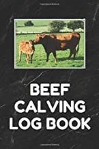 Beef Calving Log Book: Record Book to Track your Calves, 6 by 9 Inches, Black Cover
