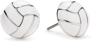GIMMEDAT Volleyball Enamel Stud Charm Earrings Girls Women Player Jewelry Fan Gift