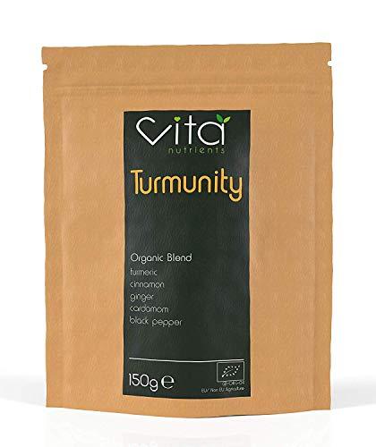 Vita Nutrients | Turmunity | Superfood in polvere 150g | Curcuma e Pepe Nero | Cucina Vegana | Senza Glutine | Sistema Immunitario | Ideale per Latte e Curcuma