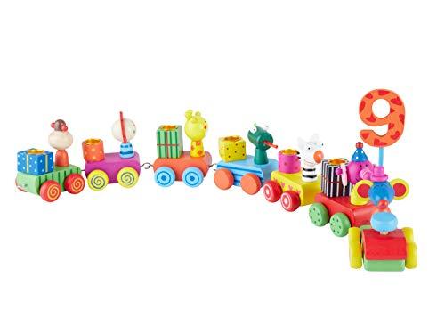 Bieco 23021293 - Geburtstagszug mit Zahlen, 48 cm