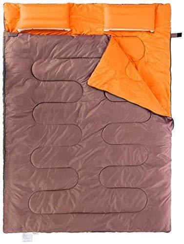 Estaciones dobles de dormir for acampar adultos exceso de temperatura sobre la costura impermeable luz senderismo mochila for llevar adulto comprimido, tamaño: (185 + 30) x145cm, color: verde LIULI