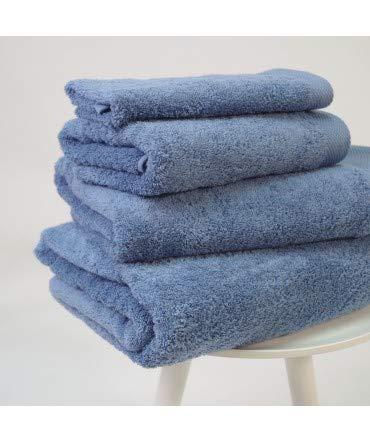 10XDIEZ Toalla algodón orgánico 600 gr/m2 Indigo - Color - Azul