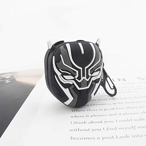 Alvhntr Black Panther Galaxy Buds Live Case Cover (2020), Silicone Cute Cartoon Character Case Game Designed for Samsung Galaxy Buds Live Charging Case (Panther)