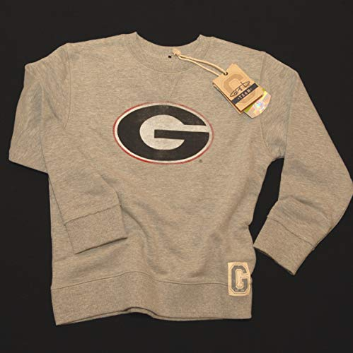 UGA Georgia Bulldogs Youth French Terry Sweatshirt (Small) Gray