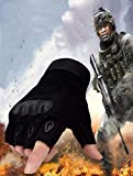 AlexVyan Imported 1 Pair Black Tactical Gloves Army Military Police Rubber Knuckle Outdoor