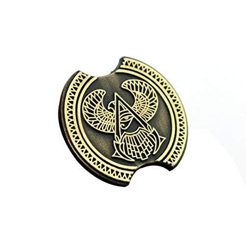 LYXPUAH Abzeichen Pin Assassins Creed Spiel Around Conner Herkunft Adler-Logo Badge Brosche Herkunft Xiaoxiong Film-Animation (Color : A)