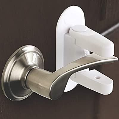 Door Lever Lock (2 Pack) Child Proof Doors & Handles 3M Adhesive - Child Safety By Tuut by Tuut