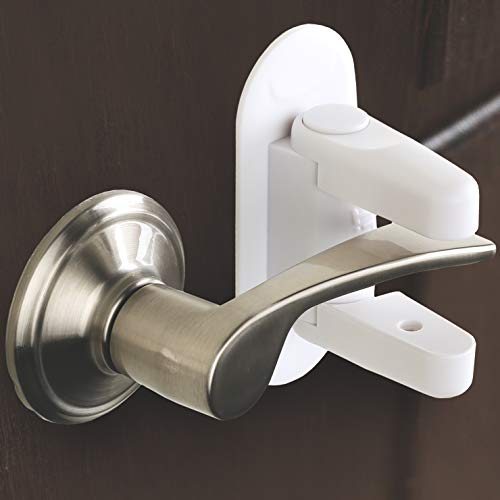 Door Lever Lock (2 Pack) Child Proof Doors & Handles 3M Adhesive - Child Safety By Tuut