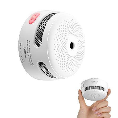 X-Sense Mini Smoke Detector, 10-Year Battery Photoelectric Fire Smoke Alarm with LED Indicator & Silence Button, XS01