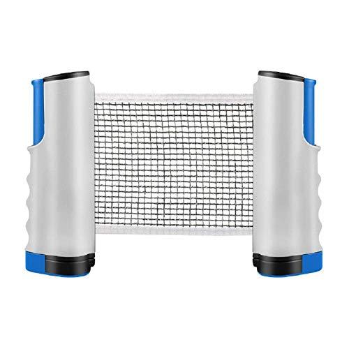 Weimay 1 soporte para red de tenis de mesa, portátil, resistente y antideslizante, diseño retráctil, fácil de almacenar, adecuado para el hogar y los viajes, color gris azulado