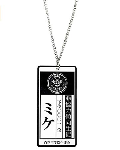 CoolChange Collar de Kakegurui con Tarjeta de Esclavo de Yumeko Jabami