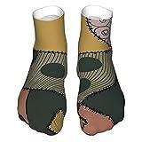 Pesadilla antes de Navidad Sally patrón calcetines adultos calcetines de corte bajo, calcetines informales, calcetines deportivos transpirables unisex 30 cm